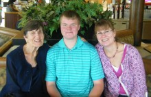 My mom with my son Adam and me on Mother's Day 2012.